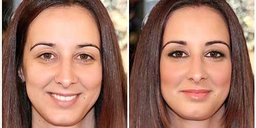 maquillaje dulce antes y despues