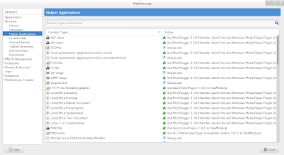 SeaMonkey Helper Applications After Mozplugger Installation
