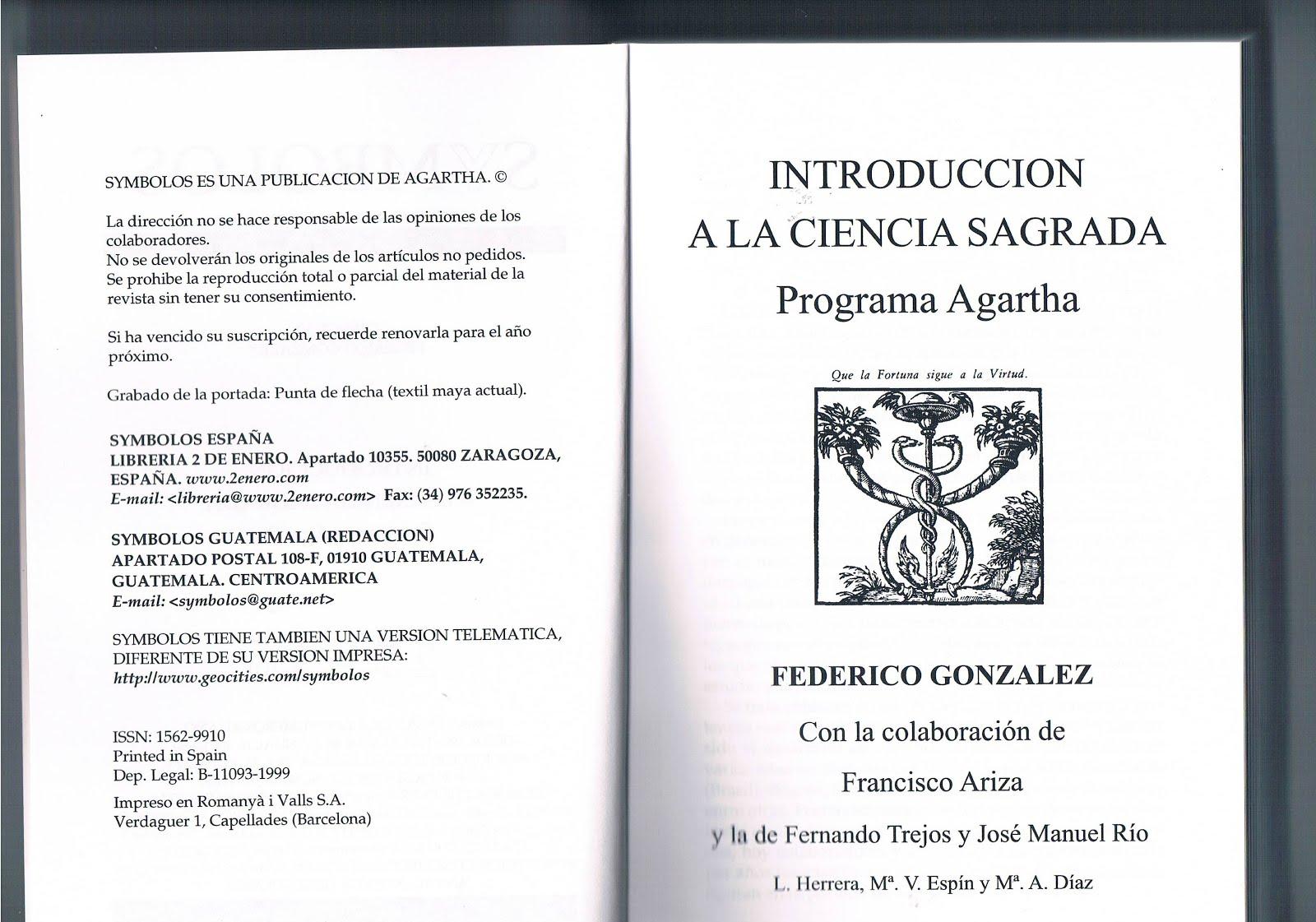 Programa Agartha, Federico González Frías y Colaboradores