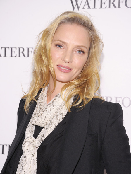 uma thurman hairstyles : Hairstyle Photo: Uma Thurman Long Wavy Cut Hairstyle