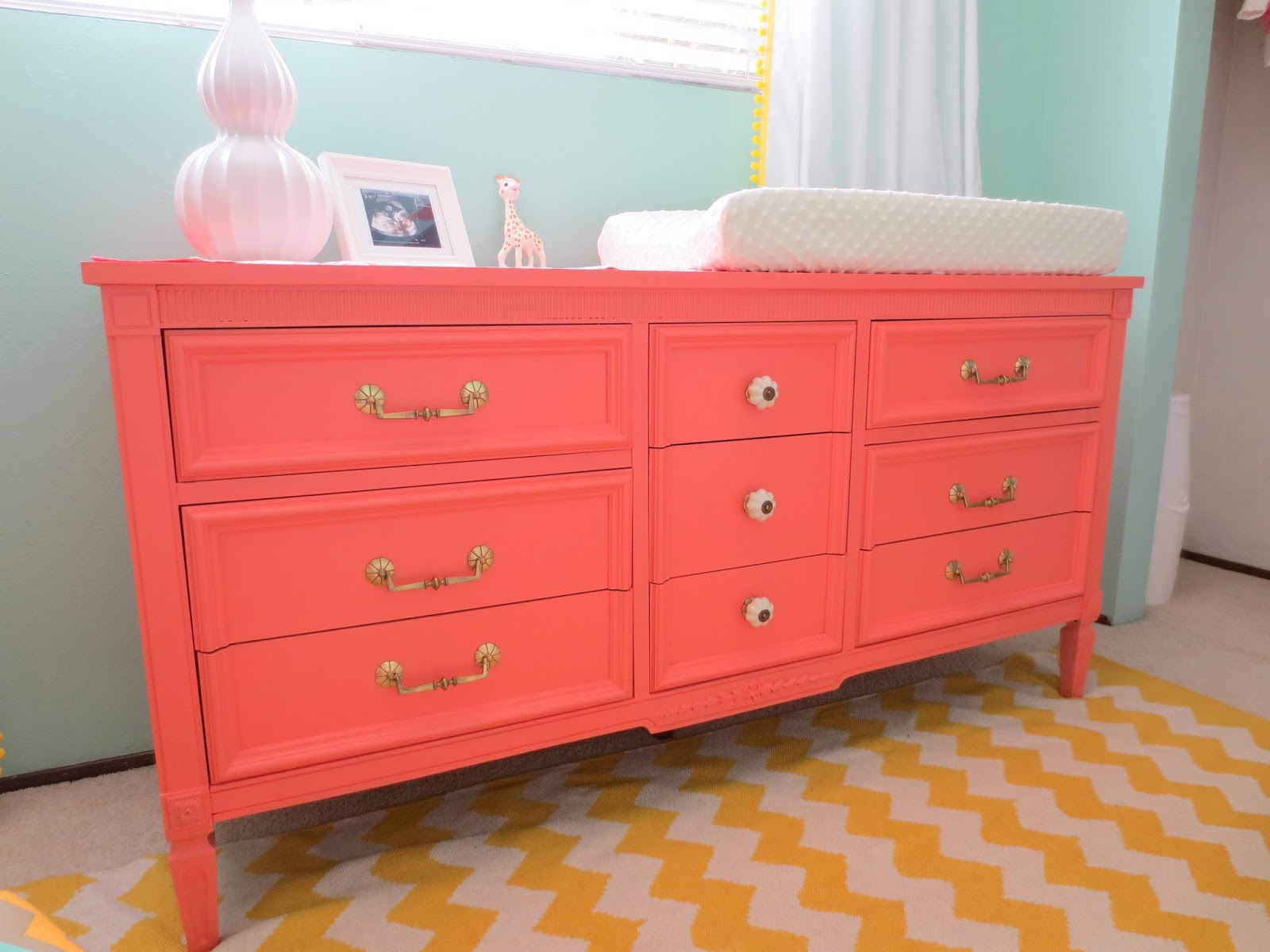 Make Bake And Love Coral Dresser For The Nursery