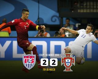 Etats-Unis 2 - 2 Portugal
