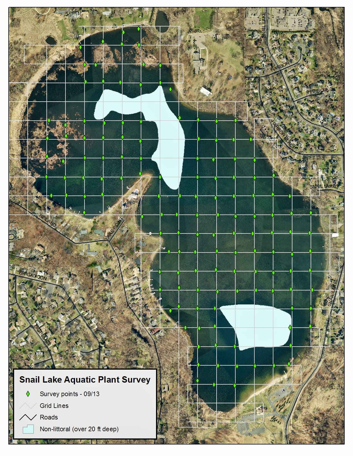 a customized grid helps us hit roughly the same survey points on a lake each time we go out on most of our lakes we aim to hit at least 100 points