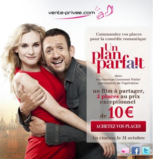 UN PLAN PARFAIT : Vos 2 places pour le film à 10 euros