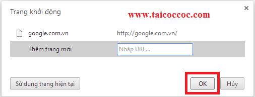 Hướng dẫn thay đổi trang chủ mở cùng trình duyệt web Cốc Cốc