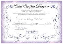 My Copics Designer Certificate