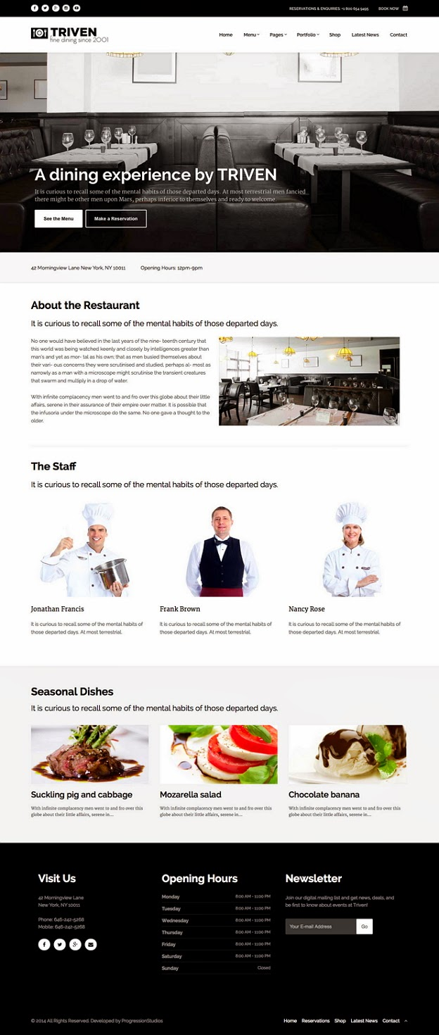 Responsive Winery Website Theme