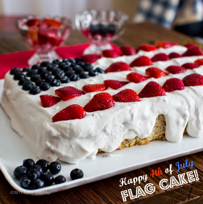 vegan flag cake 4th of july