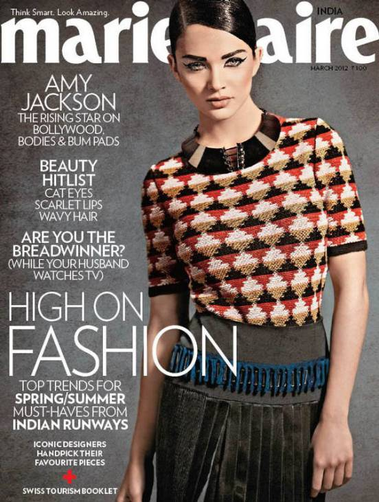 Amy Jackson on Marie Claire - Amy Jackson on Marie Claire India March 2012
