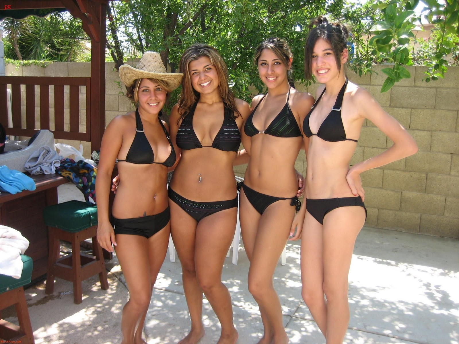In groups thongs girls of
