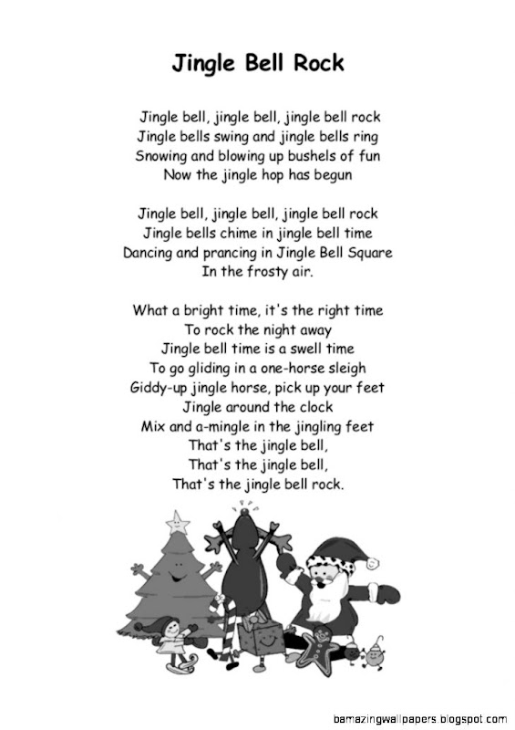 view original size christmas carolsong lyrics with chords for jinglebell rock image source from this