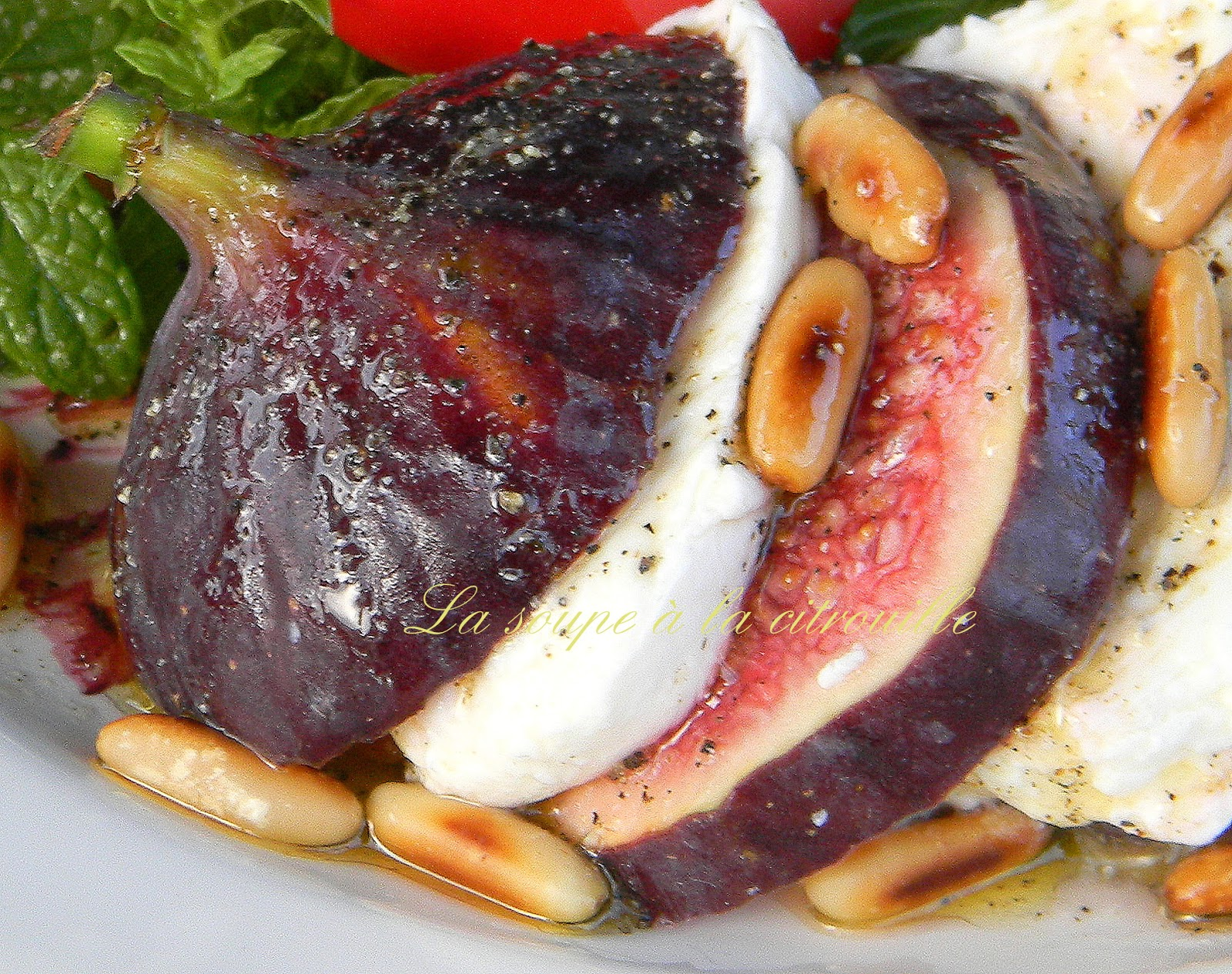Salade figues-mozzarella - Blogs de cuisine