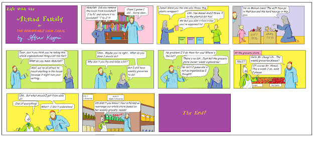Life with the Ahmad Family comic for Muslim children - The Remarkable Umm Jamal