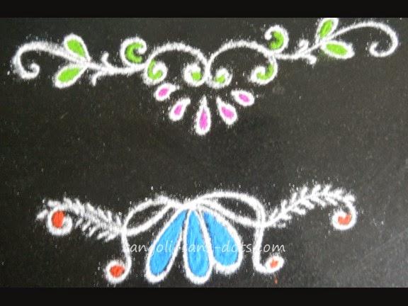 Door rangoli designs rangoli on door small rangoli for Door rangoli design images