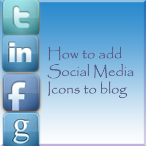 how to add social icon to blog