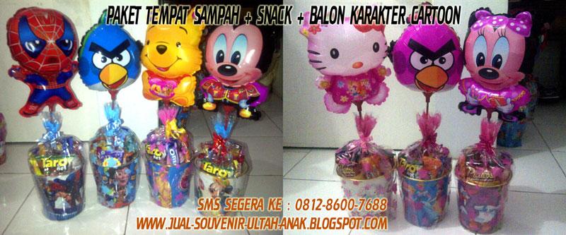 paket tempat sampah balon karakter paket tempat tong sampah karakter ...