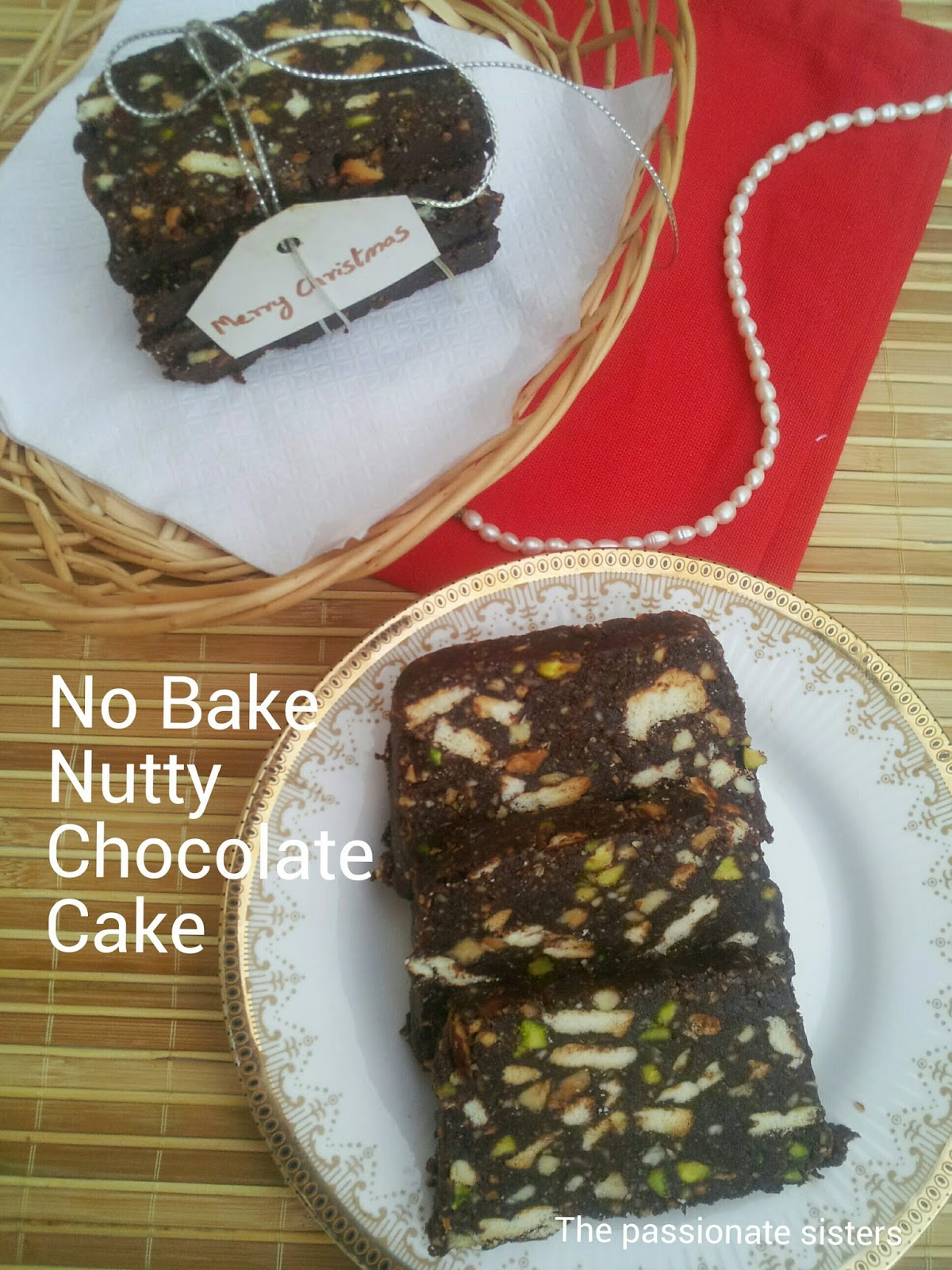 No Bake Chocolate Nutty Cake