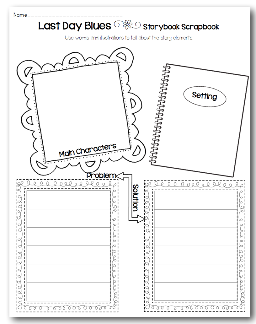 Free Worksheet First Day Jitters Worksheets orange ya glad its a blog hop sunny days in second grade and to keep the theme going my paid product is complete unit for last day blues i made this one about 2 years ago when went to