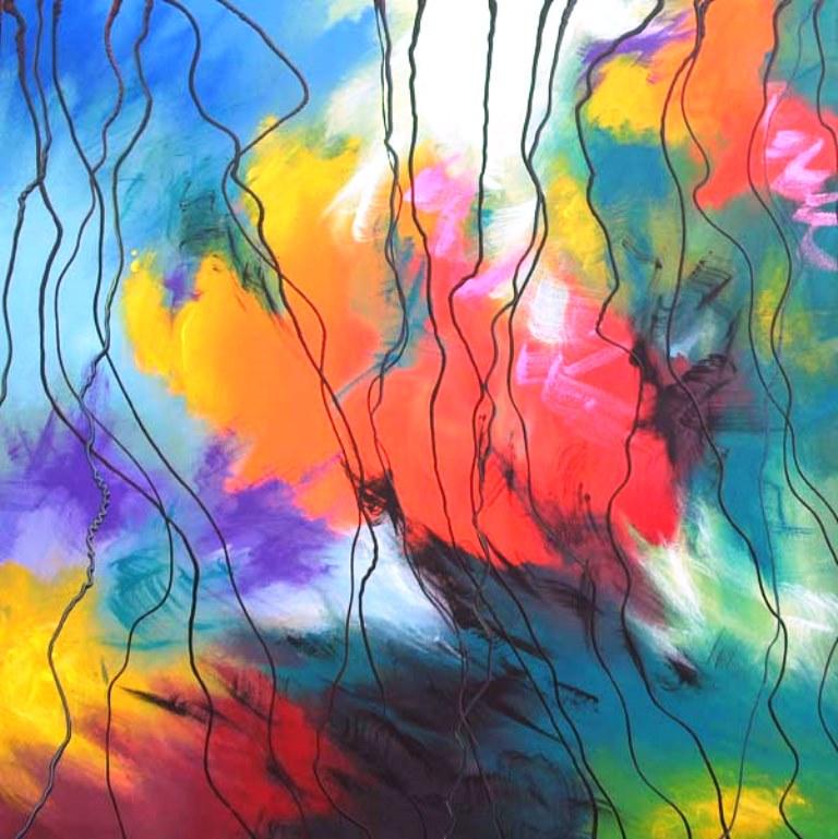 galera de pinturas de cuadros abstractos modernos