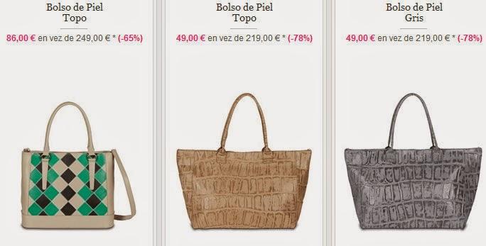 Bolsos grandes de piel por sólo 49 euros