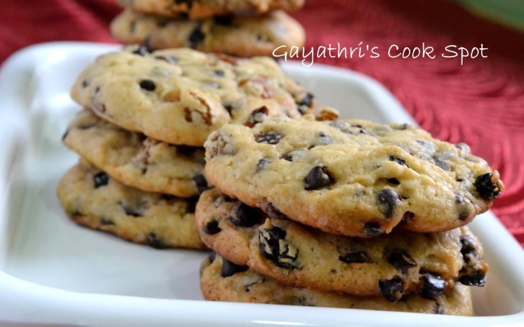 Eggless Chocolate Chip Cookies – Gayathri's Cook Spot