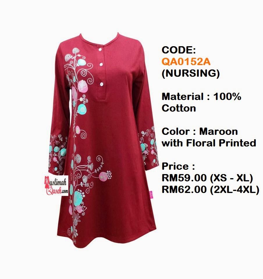 T-Shirt-Muslimah-Qaseh-QA0152A