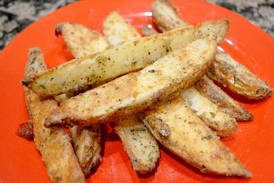 These were so tender in the middle and crisp on the outside Garlicy Oven Fries