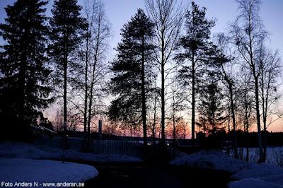 solnedgång, Norrland, Norrbotten