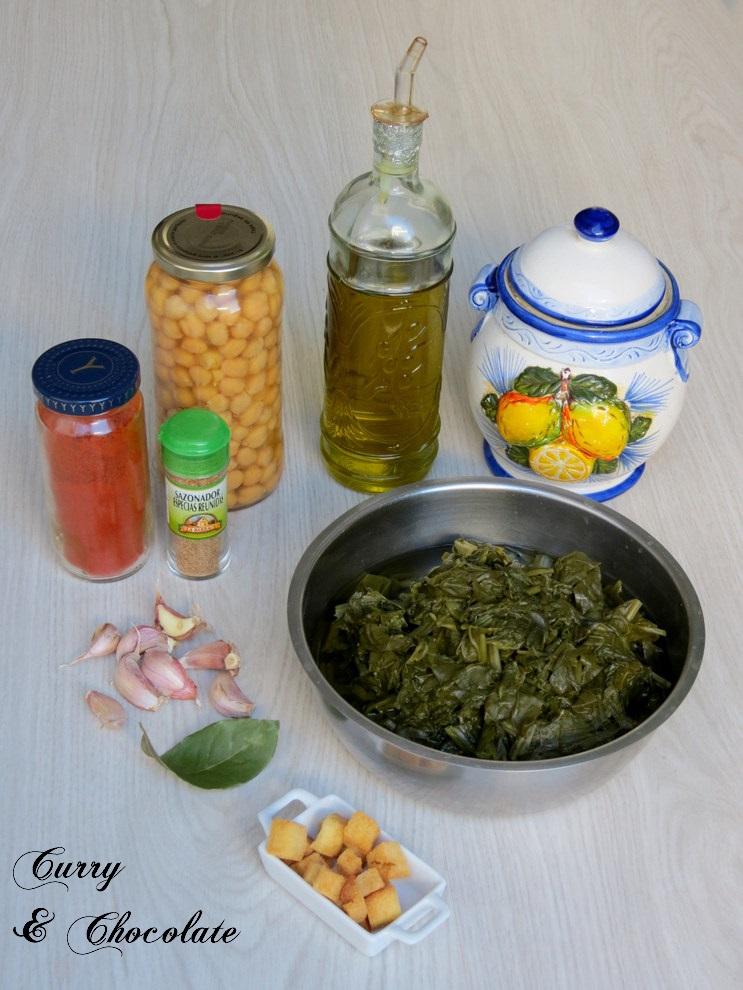 ... intentándolo): Spinach with chickpeas - Espinacas con garbanzos