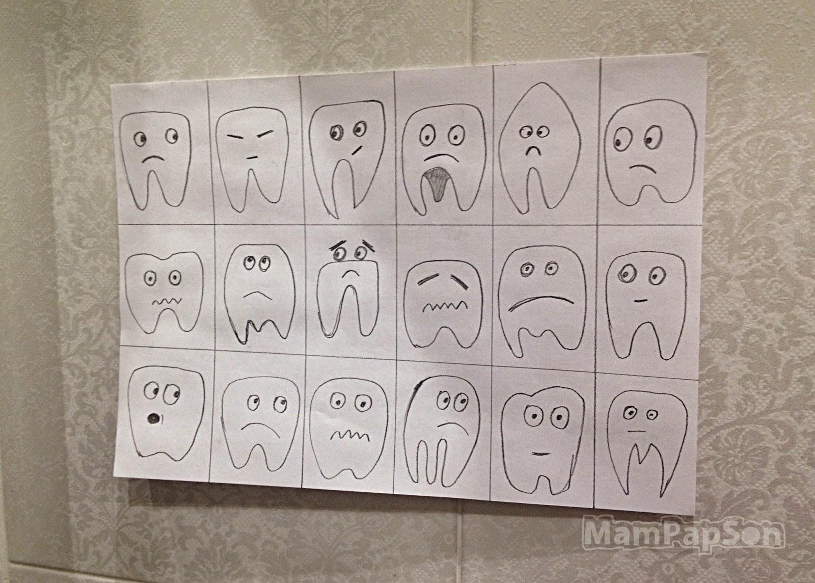 плакат грустные зубы