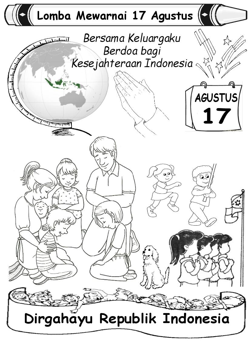 Sekolah Minggu Ide Lomba Mewarnai 17 Agustus