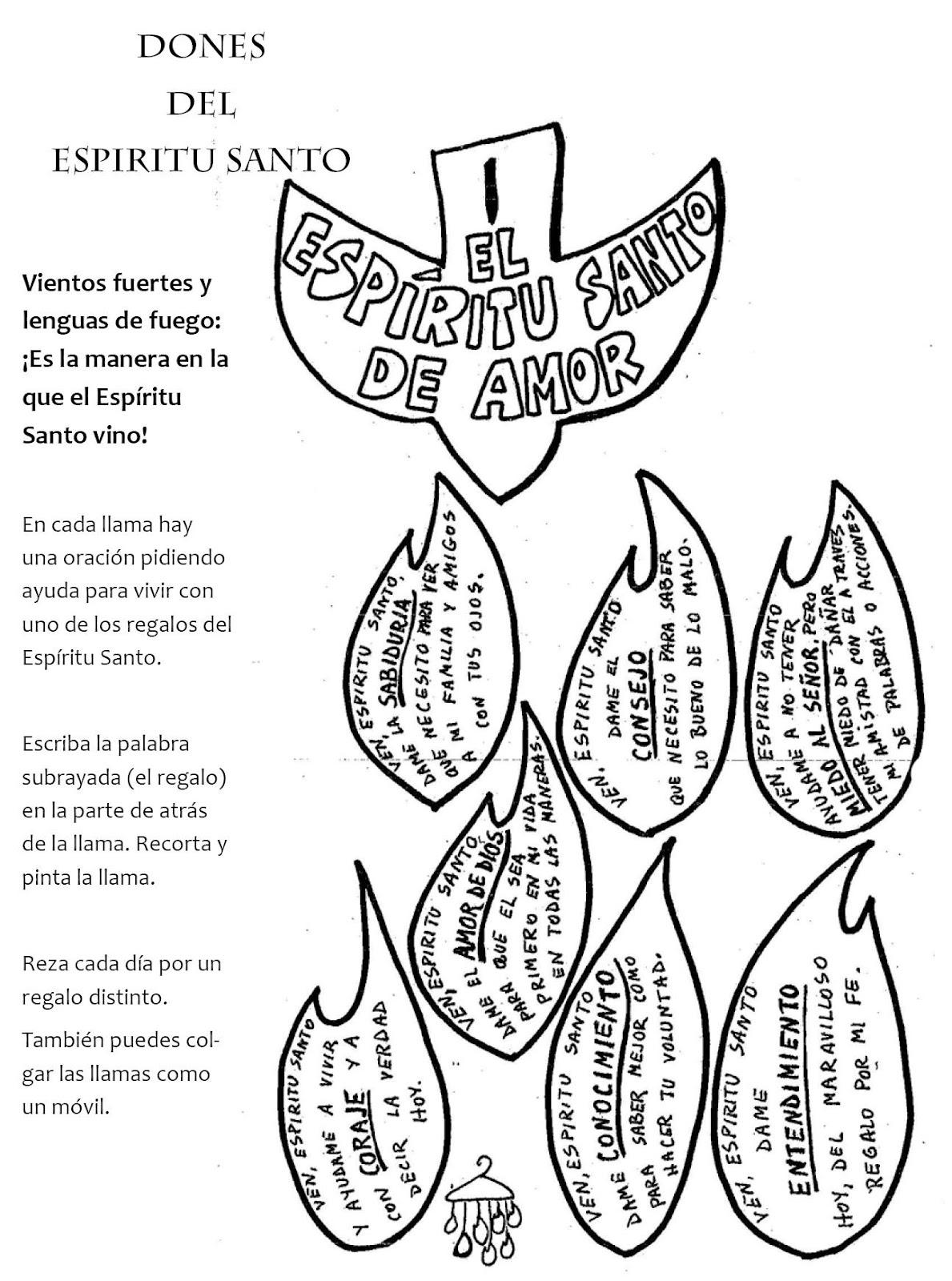 MATERIALES DE RELIGIÓN CATÓLICA: Dones y Frutos del Espíritu Santo