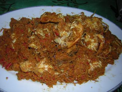 Resep membuat Rendang Kepiting Cabai Rawit