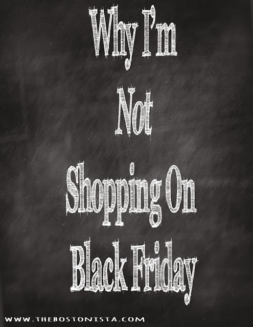 Why I'm Not Shopping on Black Friday 2013