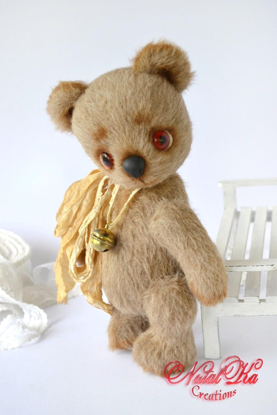 Авторский мишка теди медведь медвежонок из кашемира ручной работы от NatalKa Creations. Künstlerbär Bär Sammlerbär Teddybär Teddy Unikat handgemacht von NatalKa Creations. Artist teddy bear ooak handmade by NatalKa Creations
