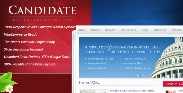Download ThemeForest Candidate - Political WordPress Theme for free.