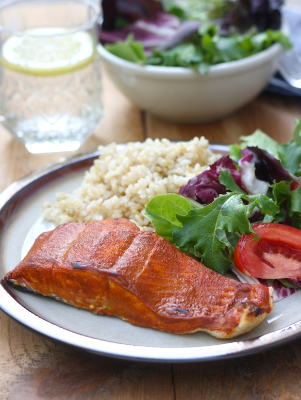 Tandoori Roasted Salmon recipe by SeasonWithSpice.com