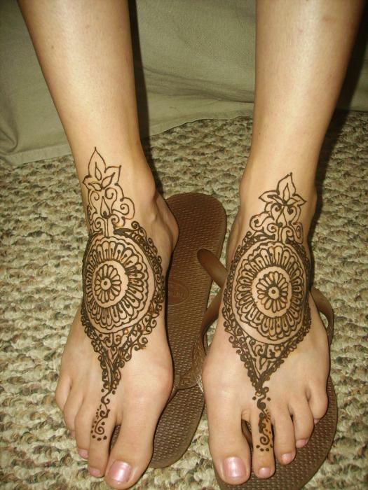 Feet Mehndi Designs Bridal : Mehndi gol tikka design for feet