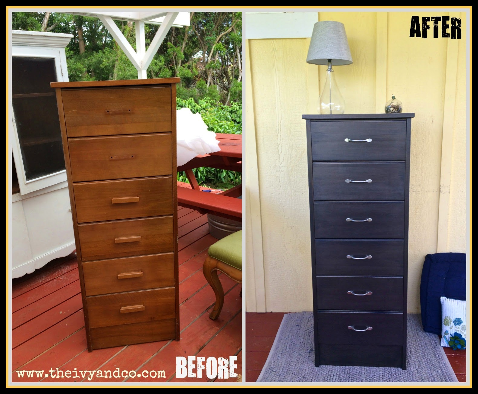 Ordinaire Before And After Tall Black Dresser Re Do Chalk Paint Metallic Paint Martha  Stewart