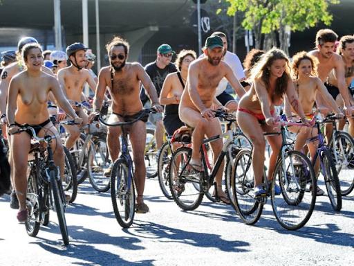 Fotos do World Naked Bike Tour