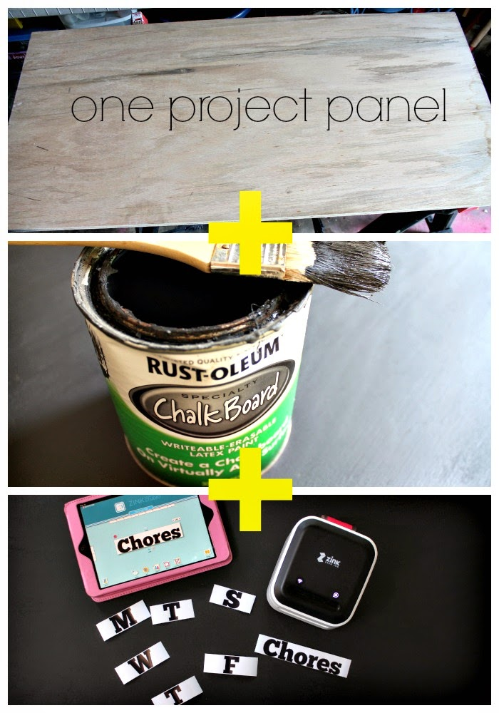 how to make a chalkboard caalendar