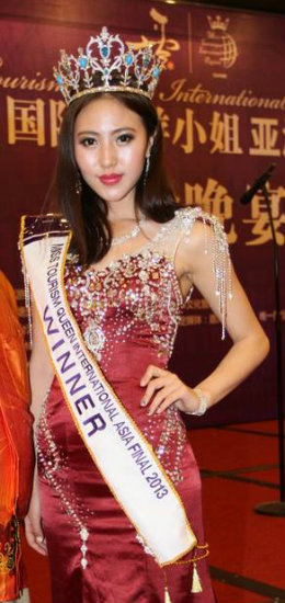 Miss Tourism Asia 2013 winner Bai Xueying of Zhejiang China