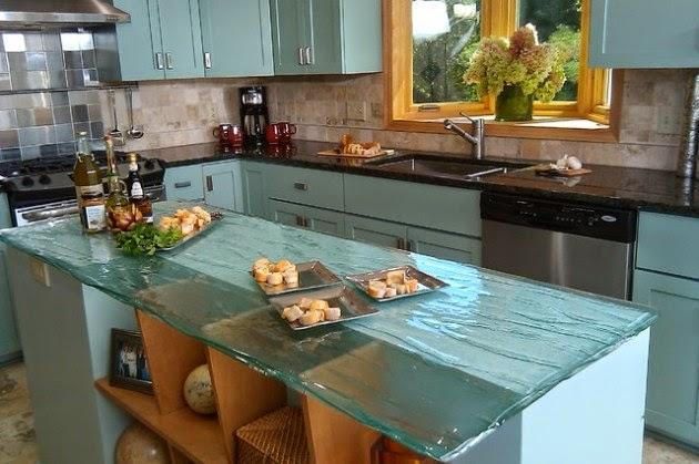 Adorables ideas de diseno de cocinas con muebles de cristal+(29)