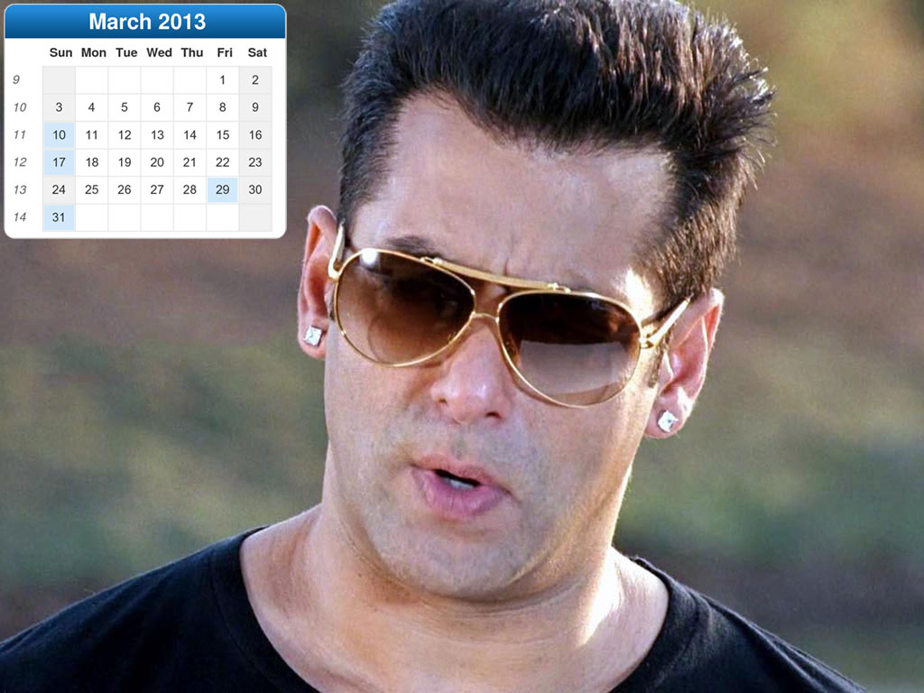 Salman Khan New Year Calendar 2013 For Desktop 2014 New Year Desk