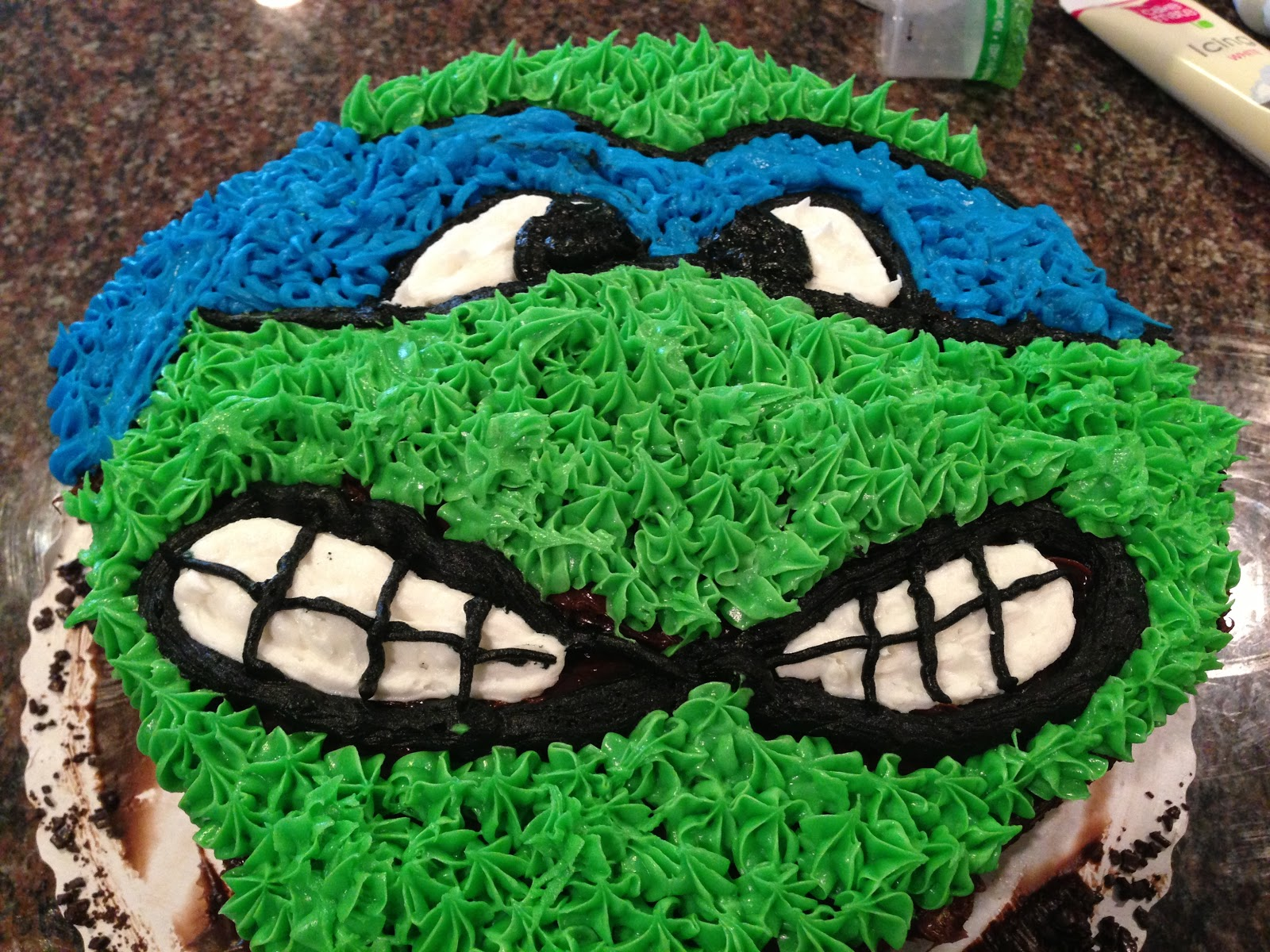 Ninja Turtle Birthday Cake Foodieforone