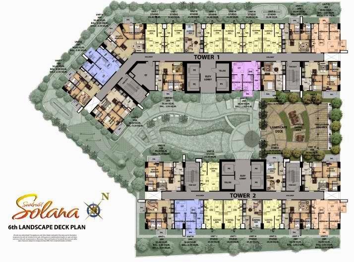 Solana Condominium 6th Landscape Deck Plan
