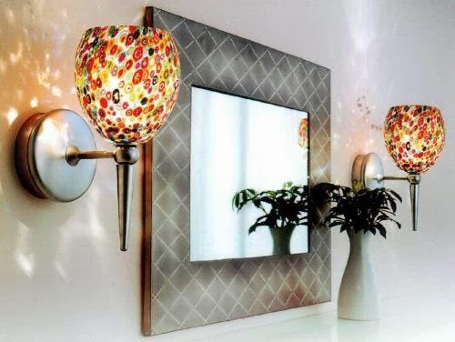 living room interior design: decorate cracks of mirror