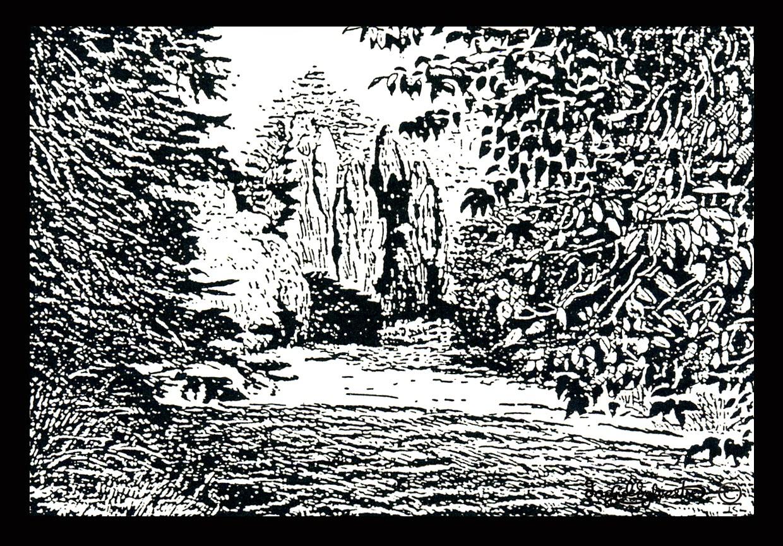 Woodland Garden Grey Towers Nunthorpe Middlesbrough Cleveland by artist Ingrid Sylvestre