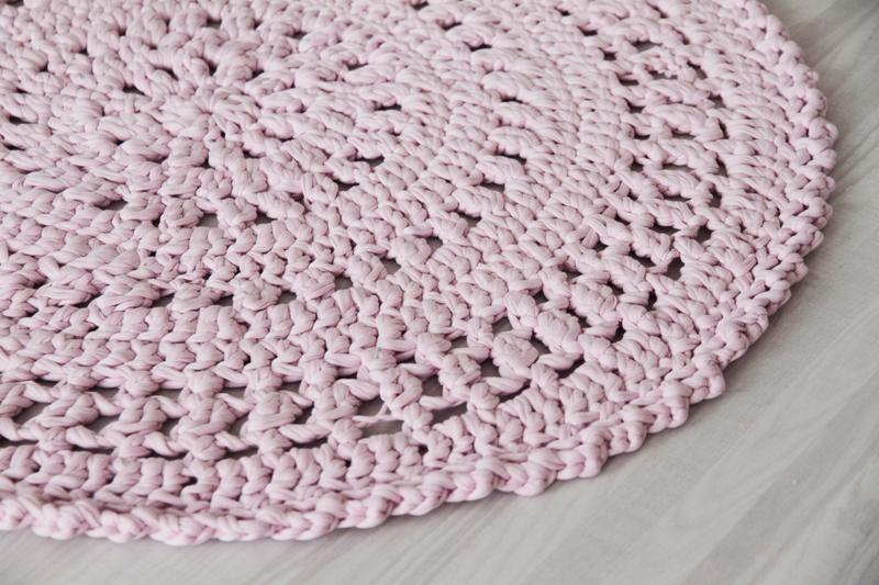 virkattu matto virkkuri pitsi trikookude matonkude