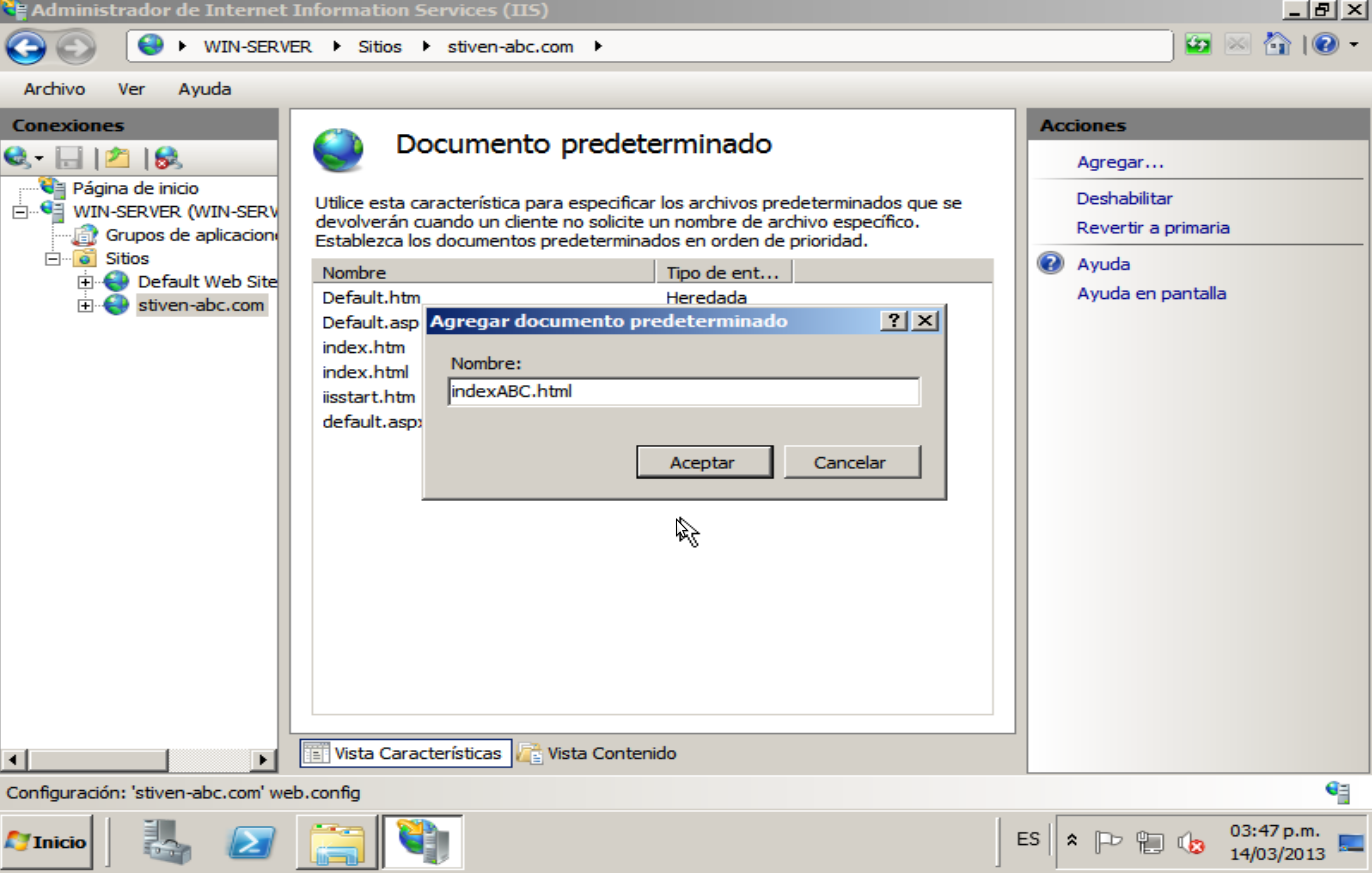 Admin: SERVER HTTP - Windows Server 2008